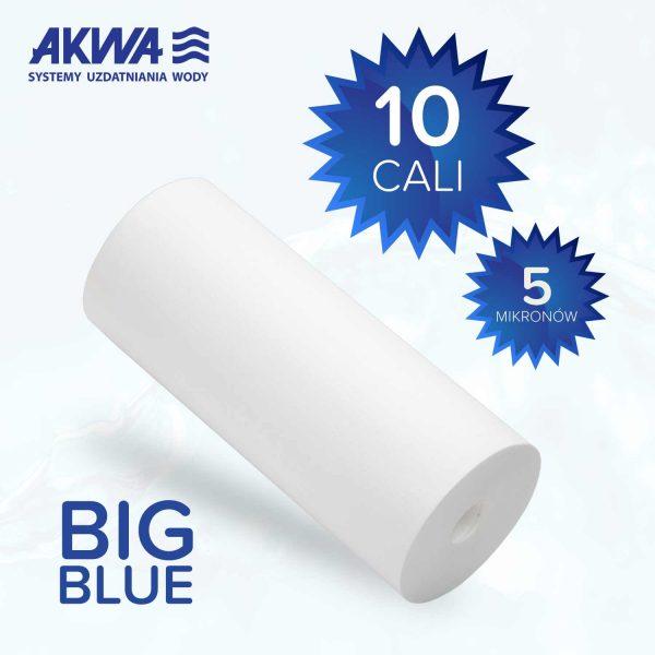 Wkład piankowy Big Blue 10 cali polipropylenowy 5 mikronów