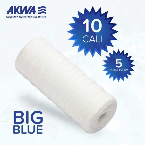 Wkład sznurkowy Big Blue 10 cali polipropylenowy 5 mikronów