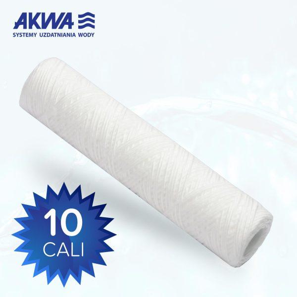 Wkład sznurkowy filtr do wody 10 cali polipropylenowy 50 mikronów