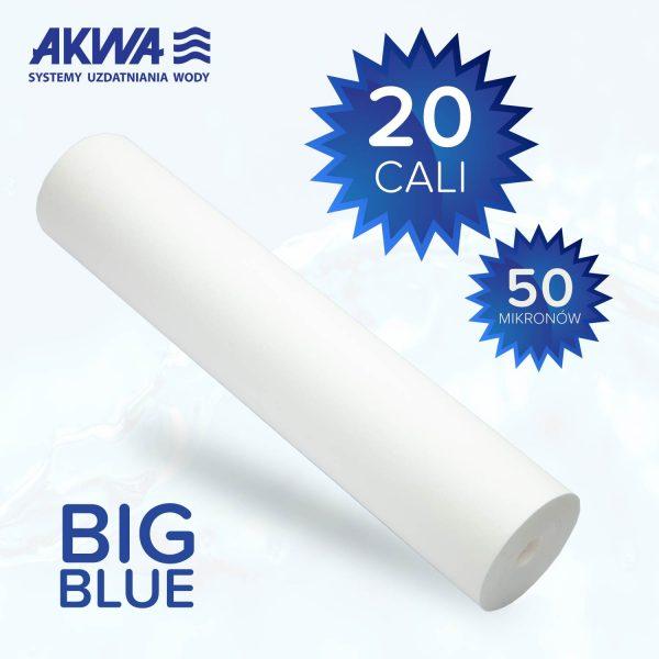 Wkład piankowy Big Blue 20 cali polipropylenowy 50 mikronów