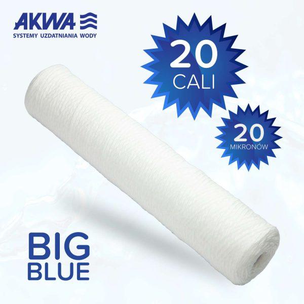 Wkład sznurkowy Big Blue 20 cali polipropylenowy 20 mikronów