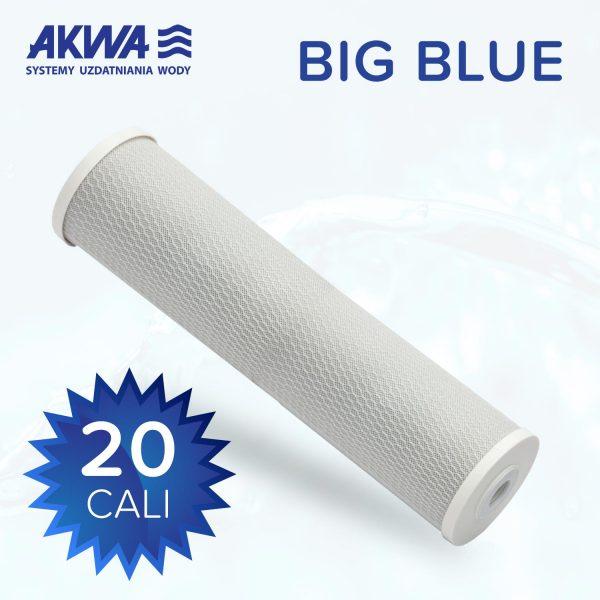 Wkład węglowy filtra do wody 20 cali Big Blue węgiel spiekany