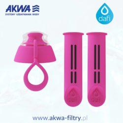 2-pak filtr do butelki z nakrętką Dafi w kolorze flamingowym, wkład do butelki filtrującej Dafi dwu pack