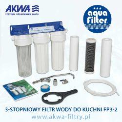 Trójstopniowy Filtr Wody do Kuchni pod zlew FP3-2 Aquafilter podzlewozmywakowy