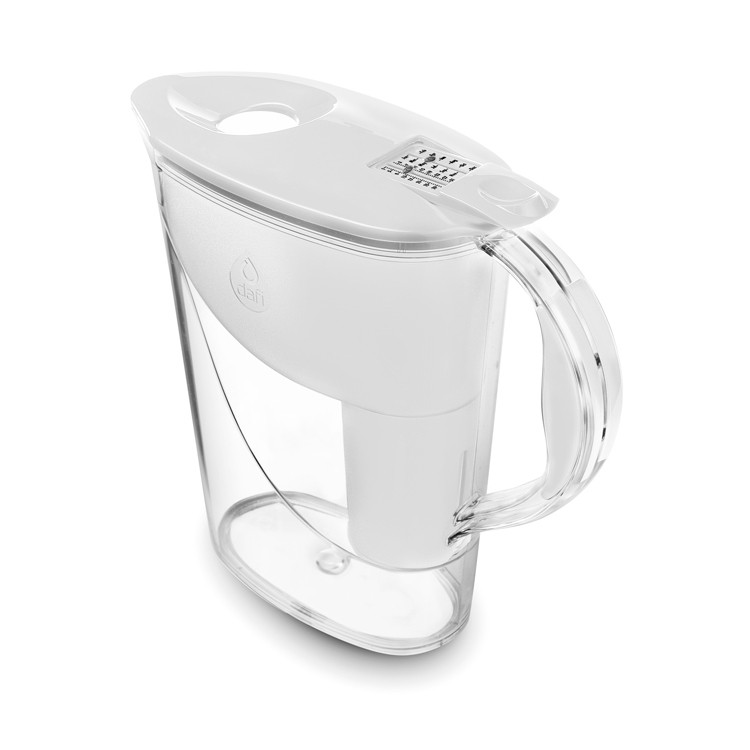 Dzbanek filtrujący Dafi ATRI biały kolor - widok izometryczny