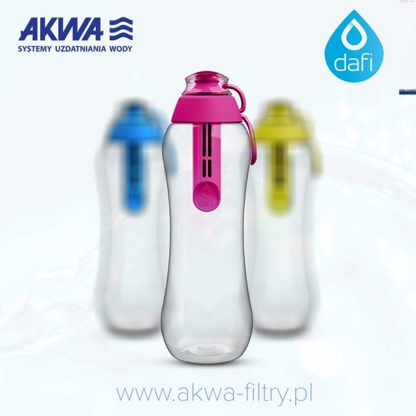 Butelka filtrująca Dafi do wody kranowej 0,5 litra z filtrem węglowym