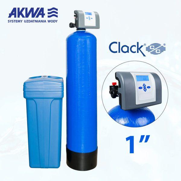 Dwuelementowy zmiękczacz wody Clack PL DUO przyłącze 1 cal