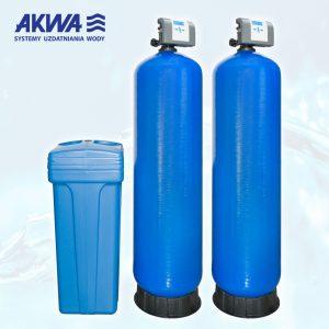 Dwukolumnowy zmiękczacz wody do pracy ciągłej Clack PL TWIN - od 1,5 cala do 2 cale, od 100 litrów do 500 litrów