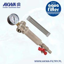 Filtr osadnikowy Aquafilter z wkładem siatkowym gwint 1cal lub 3/4 cala FHMB1 FHMB34