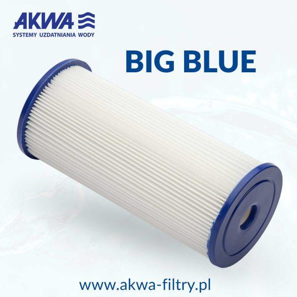 Harmonijkowy wkład filtra do wody 10 cali Big Blue 20 mikronów
