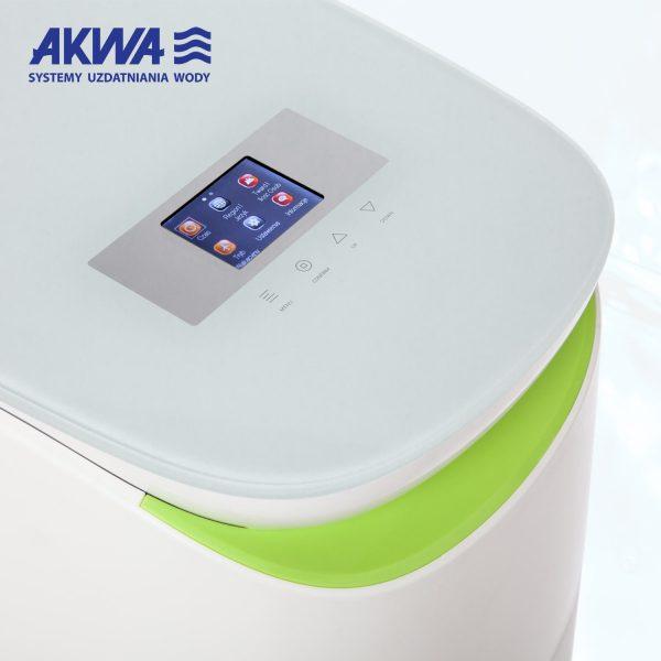 Kompaktowy zmiękczacz do wody 25l Akwa Soft z kolorowym wyświetlaczem - panel dotykowy