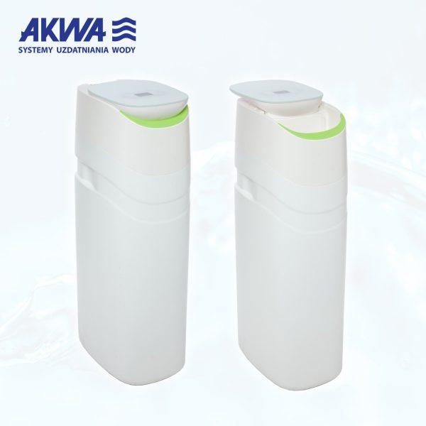 Kompaktowy zmiękczacz do wody 25l Akwa Soft super funkcjonalny z nowoczesnym wyglądem