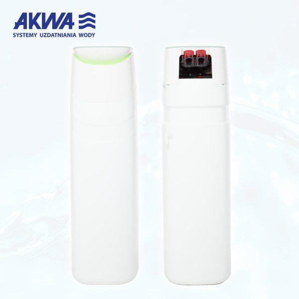 Kompaktowy zmiękczacz do wody 25l Akwa Soft widok z przodu i z tyłu