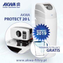 Kompaktowy zmiękczacz wody do domu AKWA PROTECT 20L BNT plus gratis dzbanek filtrujący Dafi