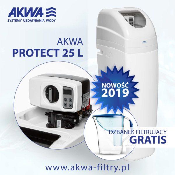 Kompaktowy zmiękczacz wody AKWA PROTECT 25L BNT plus gratis dzbanek filtrujący Dafi