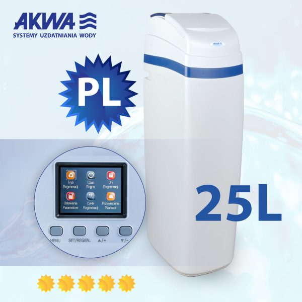 Kompaktowy zmiękczacz wody Slide Cover 25l PL AKWA Filtry
