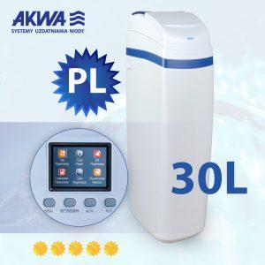 Kompaktowy zmiękczacz wody Slide Cover 30l PL AKWA Filtry