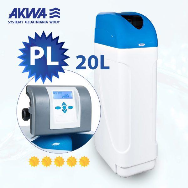 Kompaktowy zmiękczacz wody ZMWS Compact 20l Clack PL