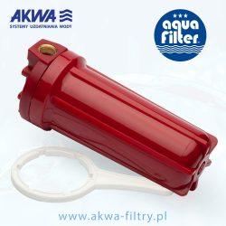 Korpus narurowy do gorącej wody 10 cali obudowa filtra do wody przyłącz 3/4 cala