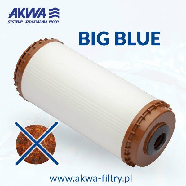 Odżelaziający wkład filtra do wody 10 cali Big Blue filtr odżelaziający odżelaziacz