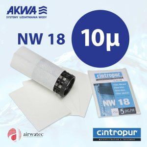 Wkład do filtra Cintropur NW18 10 mikronów Komplet 5 szt.