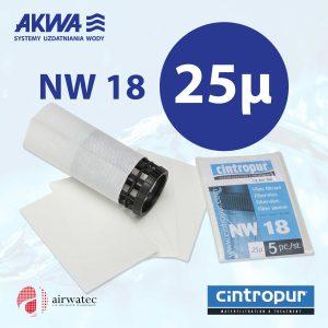 Wkład do filtra Cintropur NW18 25 mikronów Komplet 5 szt.