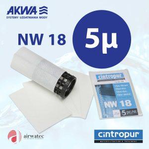 Wkład do filtra Cintropur NW18 5 mikronów Komplet 5 szt.