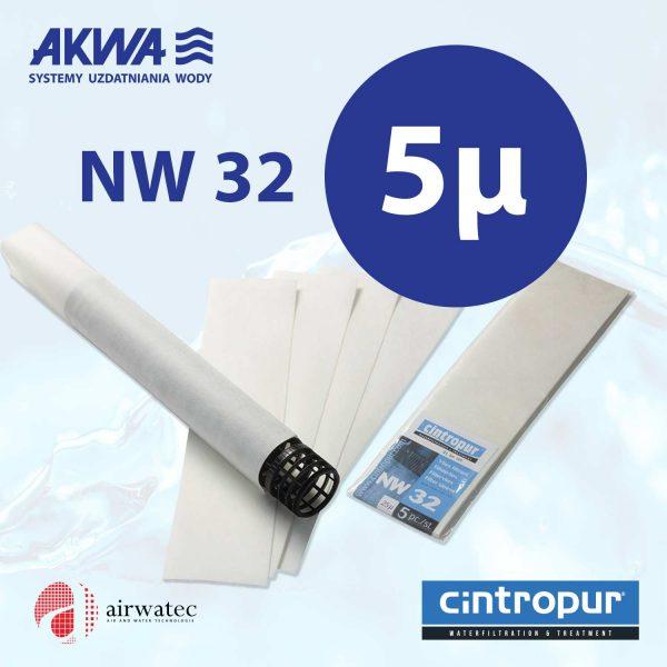 Wkład do filtra Cintropur NW32 5 mikronów Komplet 5 szt.